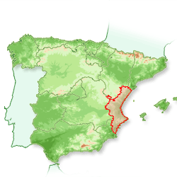 La magnifique région de Valencia ou a été inventé la Paella Authentique à l'est de l'Espagne (appelée aussi El Levante)