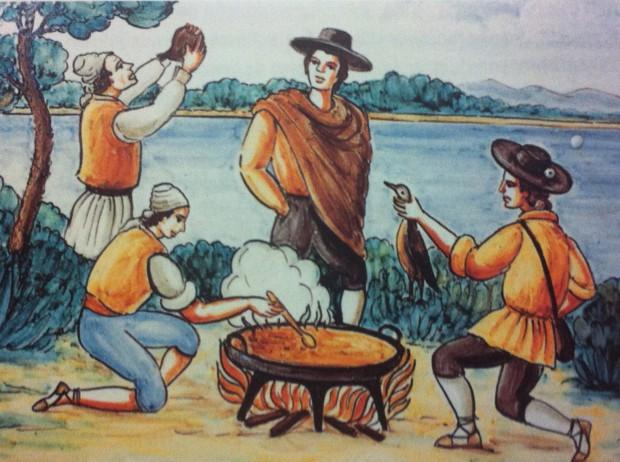 El ritual de la cocción de la Paella - Azulero de la Casa de Valencia en Madrid