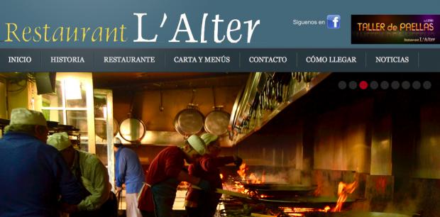 Restaurante L'Alter paella tradicional valenciana