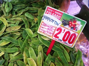Garrofo pour la paella au marché de Valence