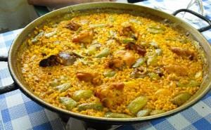 Les proportions de la Paella Valenciana