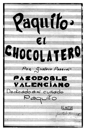 La couverture originale de Paquito el Chocolatero