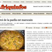 Un marocain qualifie pour LE concours de la paella de Sueca à Valencia