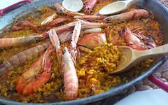 Recette de la Paella Marinera paella aux fruits de mer langoustine et crevette