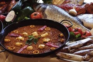 Recette du riz en paella au poisson arroz con tropezones