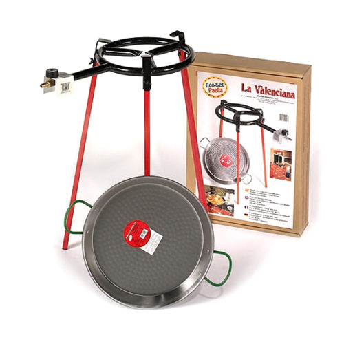 Kit complet paella acier poli traditionnel 38 cm