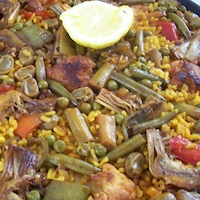 Recette de la paella de légumes paella végétarienne