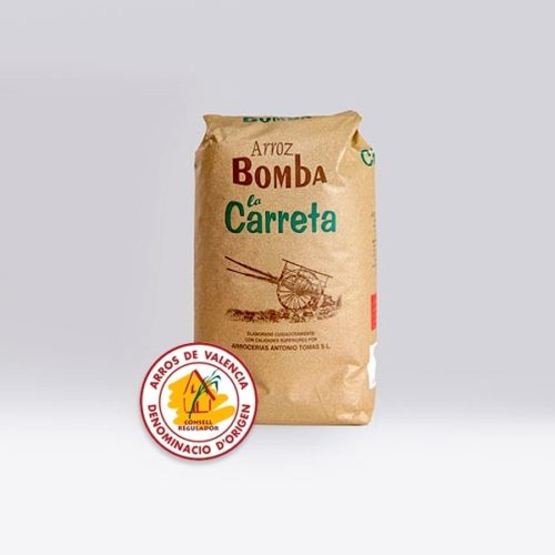La bible de la paella riz bomba 1kg de la albufera de valencia marque santo tomas la carreta
