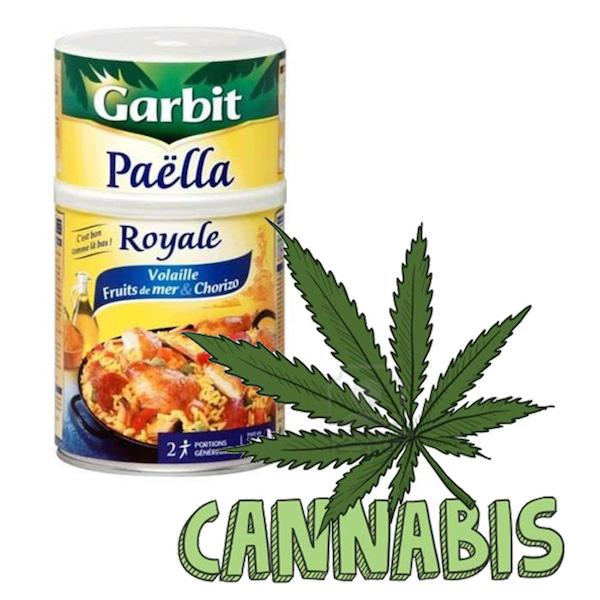 Du cannabis dans des boîtes de paellas
